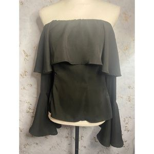 Lucca Couture Black Off the Shoulder Blouse